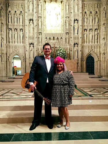 Jamey and Sandra at the National Cathedral